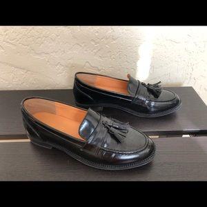 Shoes - Black Tassel Loafers - Black